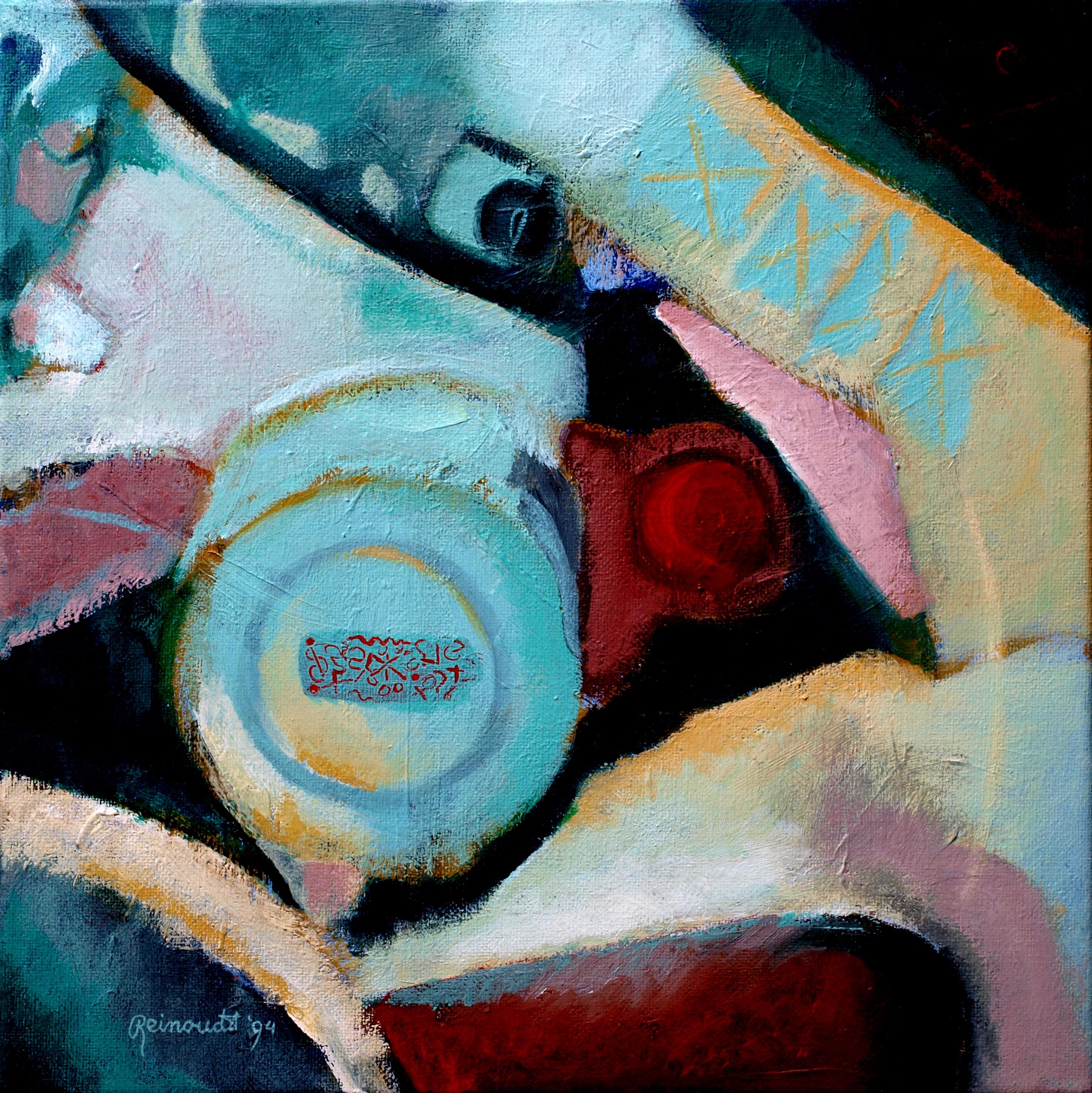 Broem broem Ellen Acryl op linnen  40 cm. x  40 cm.
