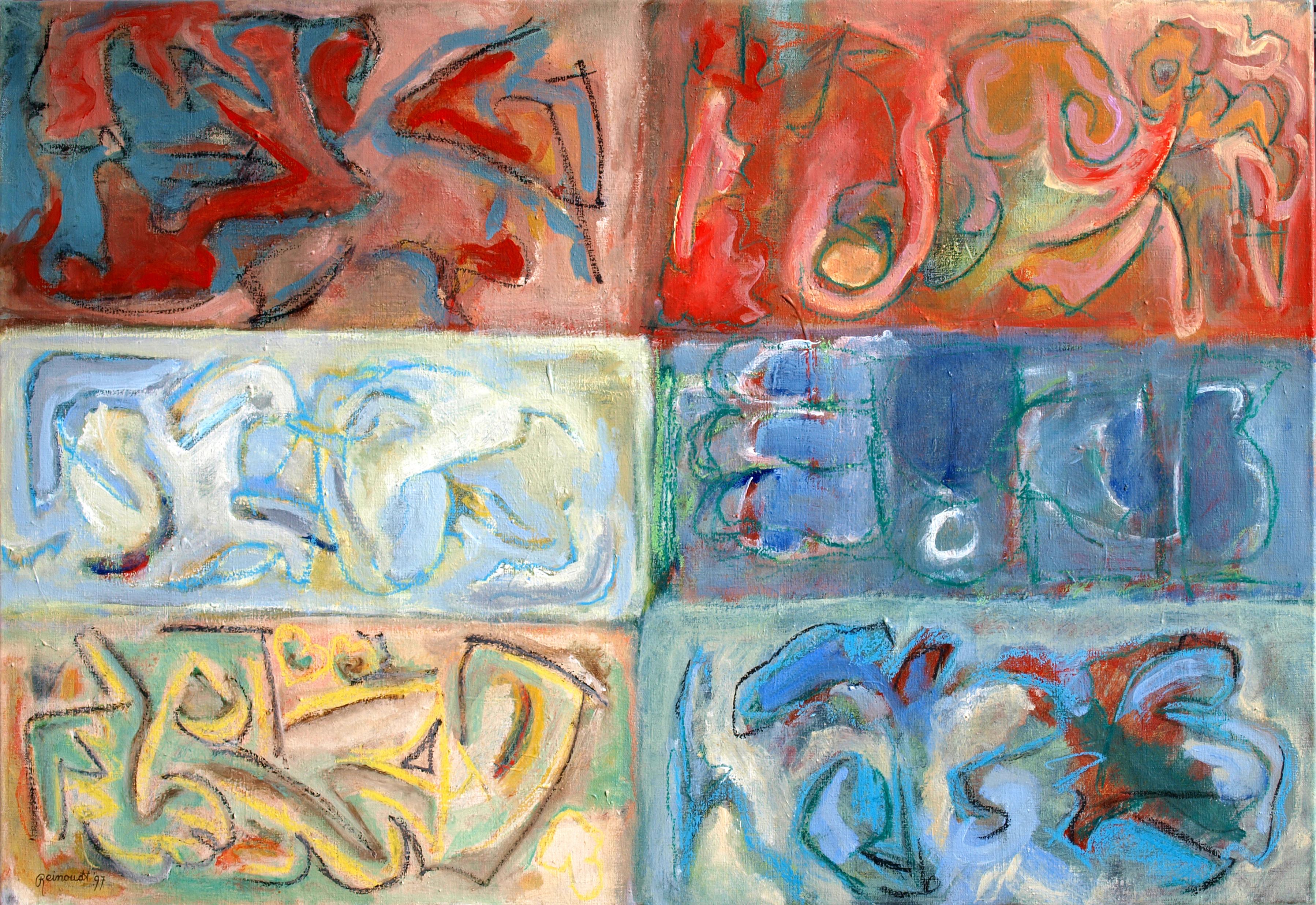 Verhalen zonder spijt Acryl op linnen 70 cm. x 110 cm.