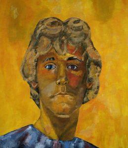 zelfportret geschilderd